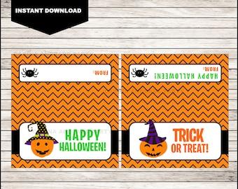 Pumpkin Halloween Bag Toppers - Halloween Birthday Bag Toppers - Halloween Bag Labels - Halloween Treat Bags - Halloween Treat tags