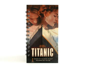 titanic notebook leonardo dicaprio kate winslet recycled vhs