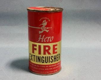 Vintage Hero Fire Extinguisher, 1940's