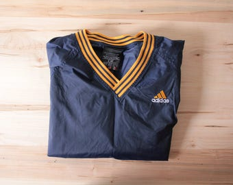 Adidas nylon pullover men's medium