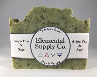Anjou Pear and Sage Soap