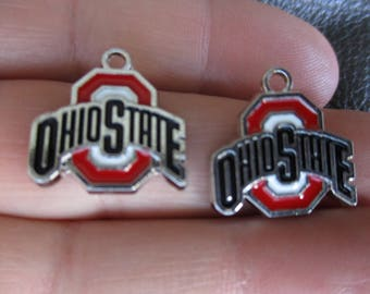 Set of 2 Inspired by Ohio State Charms
