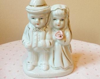 Wedding/Bridal Shower Gift/Cake Topper Vintage Bride and Groom Figurine