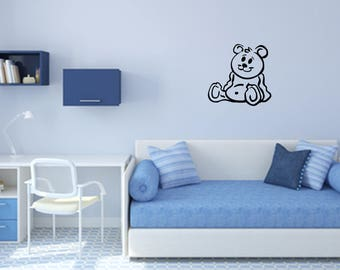 Teddy Bear Decal Nursery, Children, Home and Family Vinyl Wall Quote
