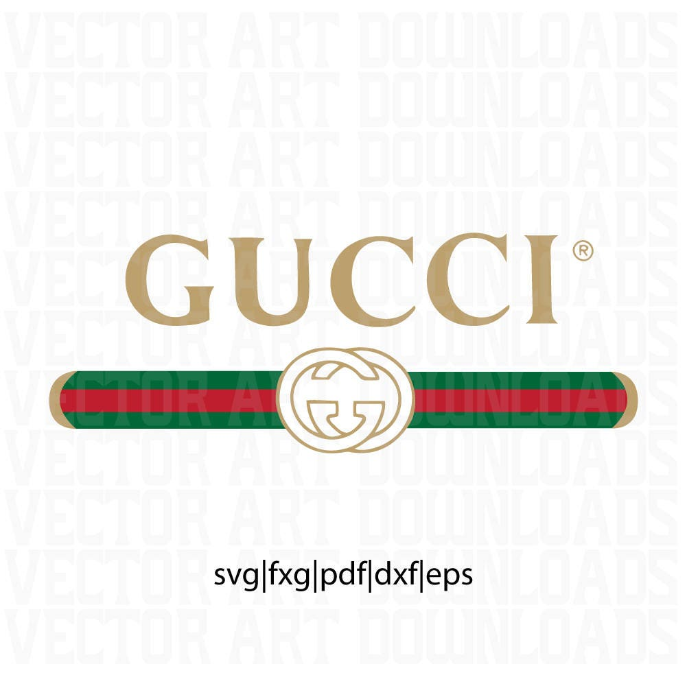 gucci washed inspired logo vector art  svg dxf fxg pdf eps Louis Vuitton Logo Font Christian Dior Logo Font