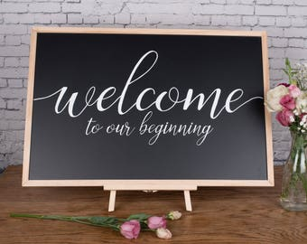 Welcome - Wedding Chalkboard