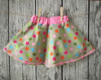 Sweet girl skirt, beige/pink, Gr. 86/92