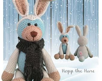Hopp the Hare - Crochet Amigurumi Digital Downloadable Pattern PLUS FREE Owl Pattern