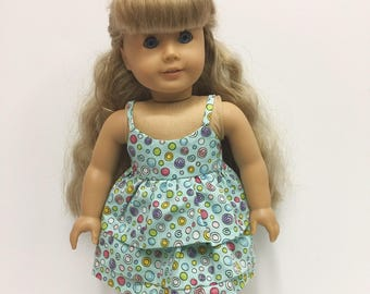 Tiered 2 Pc Spring Summer Outfit for American Girl or other 18 in Doll