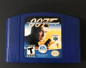 Nintendo 64 Game 007 The World Is Not Enough (Blue Cart) Free Shipping!
