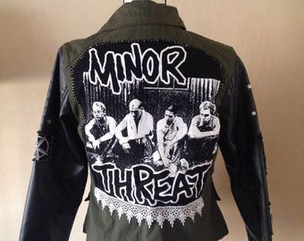 Hand Altered Punk Rock Women's Dollhouse Jacket
