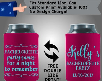 Bachelorette Party Games for a Night to Remember Collapsible Fabric Bachelorette Party Can Cooler Double Side Print (Bachelorette56)