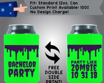 Bachelor Party Collapsible Fabric Can Coolers (Etsy-Bach90)