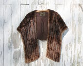1950s mink fur stole, Joseph's Furs, New Haven, vintage fur, pocket, real fur, authentic fur, made in new haven, connecticut