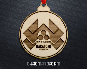 Die Hard - Nakatomi Corporation Christmas Ornament - Laser engraved