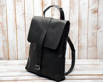 Backpack -Transformer laptop bag  laptop backpack  leather backpacl  backpack  rucksack laptop rucksack Leather backpack
