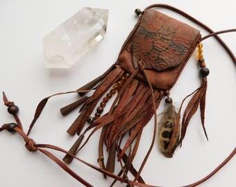Little Owl ~ Petroglyph Medicine Pouch