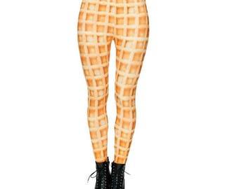 Waffles and Pancakes Print leggings