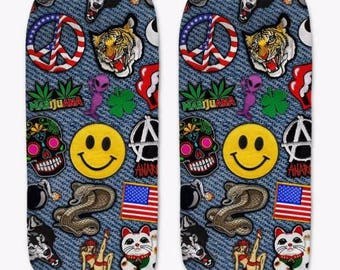 Patches Ankle Socks