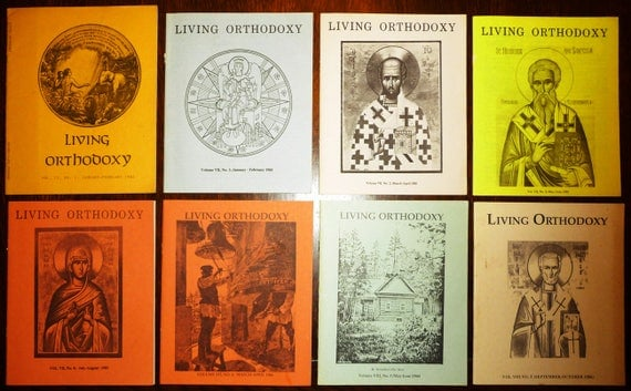 Living Orthodoxy Magazine (Russian Orthodox Church Outside of Russia) 1982 - 1986 (Lot of 8) St John of Kronstadt Press
