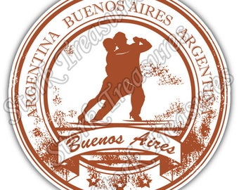 Buenos Aires Argentina Country Vintage Stamp Car Bumper Vinyl Sticker Decal