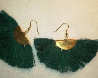 Andalusian Green/gold earrings