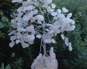 15%Off Code -EOFYSALE15 -Rose Quartz Gem Tree - 21 cm High love stone