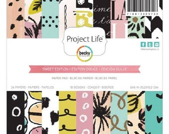 """Project Life Becky Higgins 6x6"""" Sweet Edition Paper Pad"""