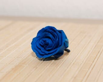 4 decorative and real rose blossoms, preserved rose