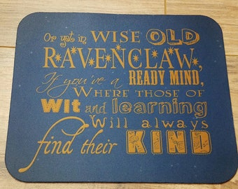 Sorting Hat Ravenclaw Rhyme Non-Slip Mouse Pad