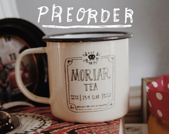 PREORDER - Moriar Tea - Sherlock - Enamel Mug