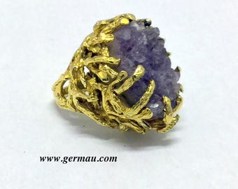 Panetta sterling silver amethyst ring  #1002