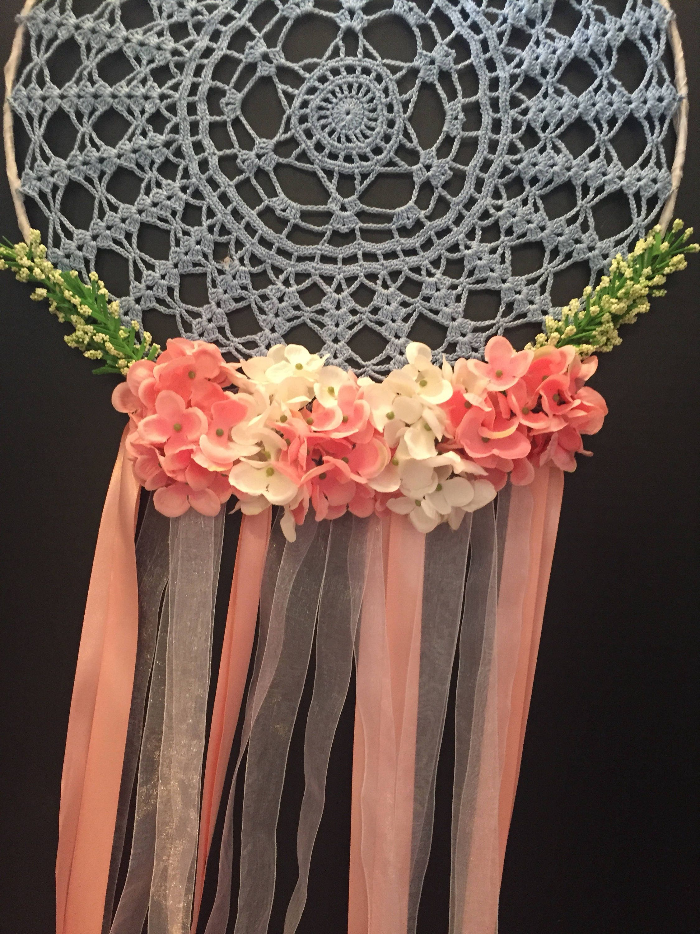Honeymoon Doily Dreamcatcher Wedding Decor Floral Dreamcatcher
