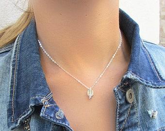 Cactus Necklace, Silver Cactus Necklace, Cactus jewelry, Nature necklace, tree cactus necklace , Pendant cactus necklace, Plant jewelry 925