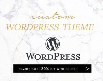 Custom Wordpress Theme | Web Design | Template | Portfolio | Blog | Business