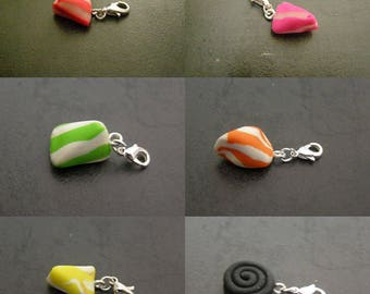 to choose from, pendant, charm, charm, jewelry pouch, carton, licorice candy