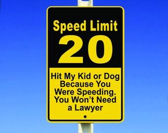 Speed Limit Aluminum Sign