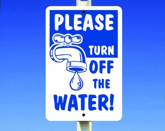 Water Aluminum Sign