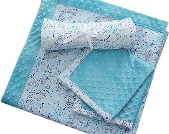 Patty Cakes Swaddle Gift Set Kit Sugar Cookie,  100% Polyester, Minky Kits, Minky Cuddle Kits, Shannon Kits