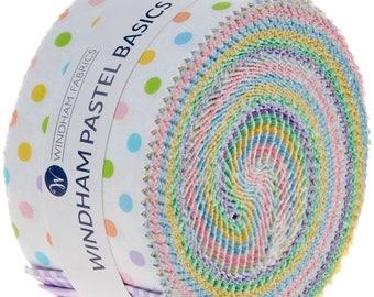 "Basic Pastels 2.5"" Strips by Windham Fabrics, Winham Basic Pastels, Jelly Roll Fabric, Pastels Jelly Roll, Children Jelly Roll, Jelly Roll"