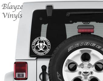 Zombie Outbreak Response Team/ Car/Computer vinyl decal