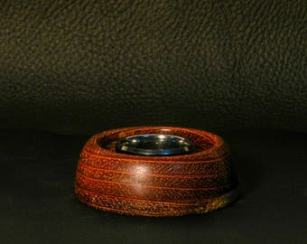 Cherry wood ring holder