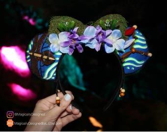 Avatar Disney Ears, Pandora - The World of Avatar Minnie Ears, Minnie Mouse, Mickey, Neytiri ears, Glow in the Dark ears, Animal Kingdom