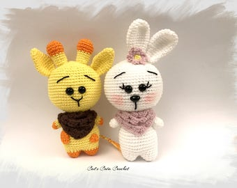 Little friends: the Giraffe and the rabbit