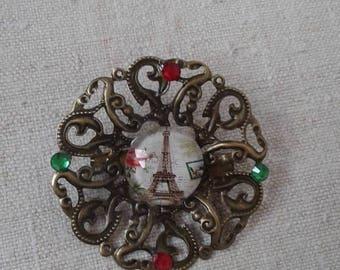 "bronze brooch ""made in Paris"""
