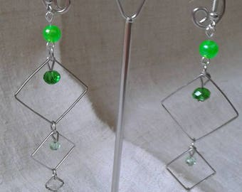 """Earrings """"three intertwined triangles"""""""