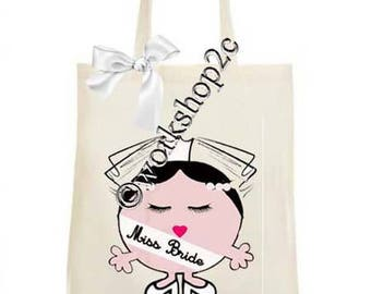 Tote bag miss personalized Bachelor Bachelorette wedding party bride bachelorette party