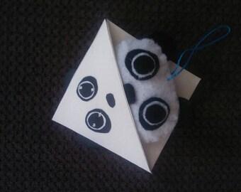 Mini bookmark and key-Panda pack