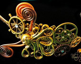 Headband Steampunk Octopus Octopus and COG