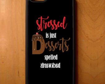 Stressed Desserts Print Pattern Phone Case Cover Samsung Galaxy S6 S7 S8 Note Edge Apple iPhone 4 5 5S 5C 6 6S 7 SE Plus + LG G3 skin rubber